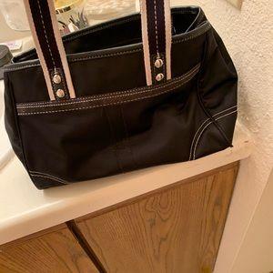 Coach Bags - Black and Blue Shoulder Bag by Coach